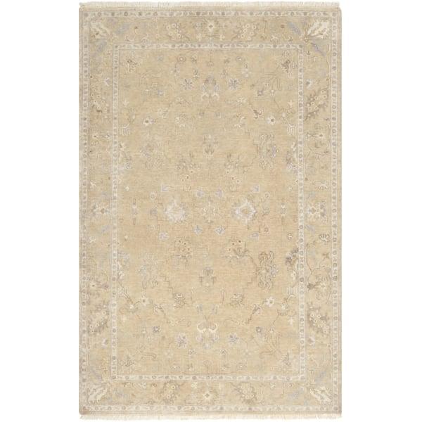 Beige, Camel, Medium Grey Traditional / Oriental Area Rug