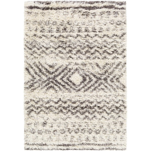 Cream, Grey, Charcol, Dark Brown (RHA-1034) Shag Area Rug