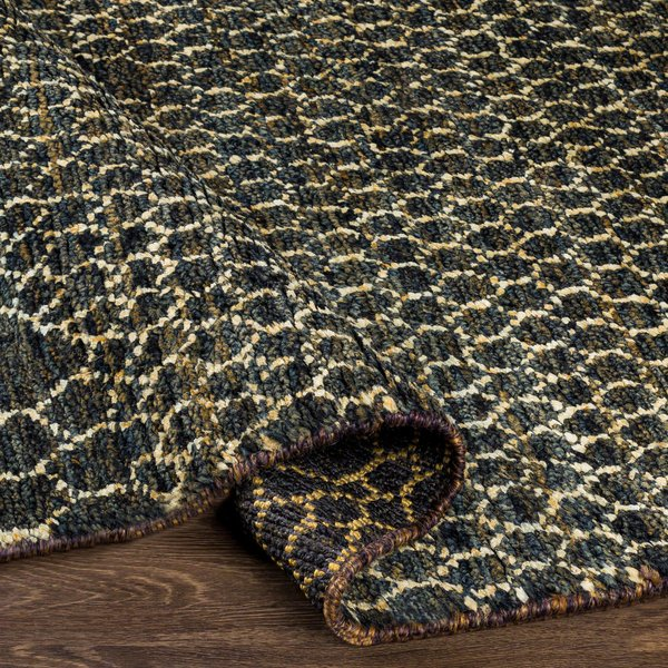 Black, Khaki, Dark Brown Moroccan Area Rug