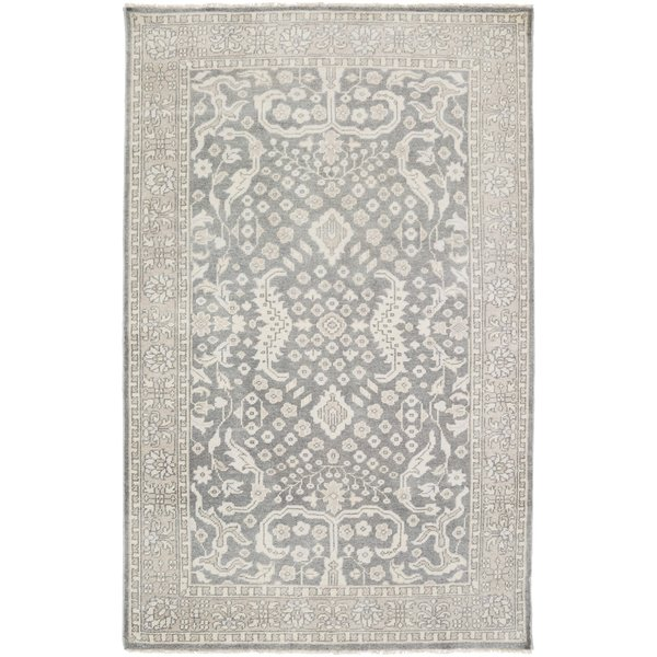 Charcoal, Moss, Sage Traditional / Oriental Area Rug