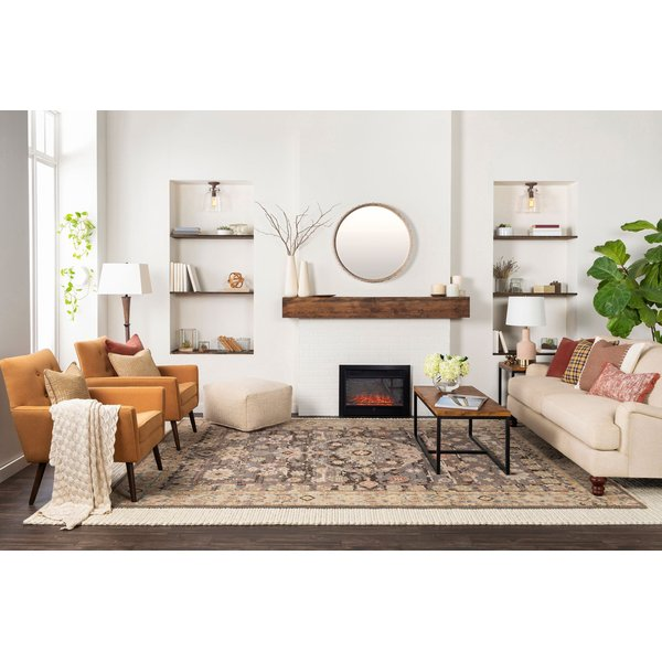 Taupe, Grey, Camel Traditional / Oriental Area Rug