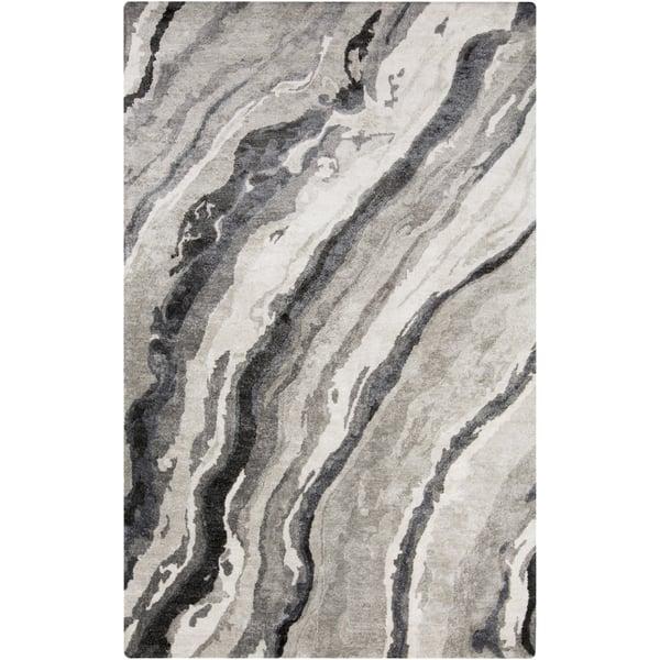 Charcoal, Medium Gray, Light Gray Contemporary / Modern Area Rug