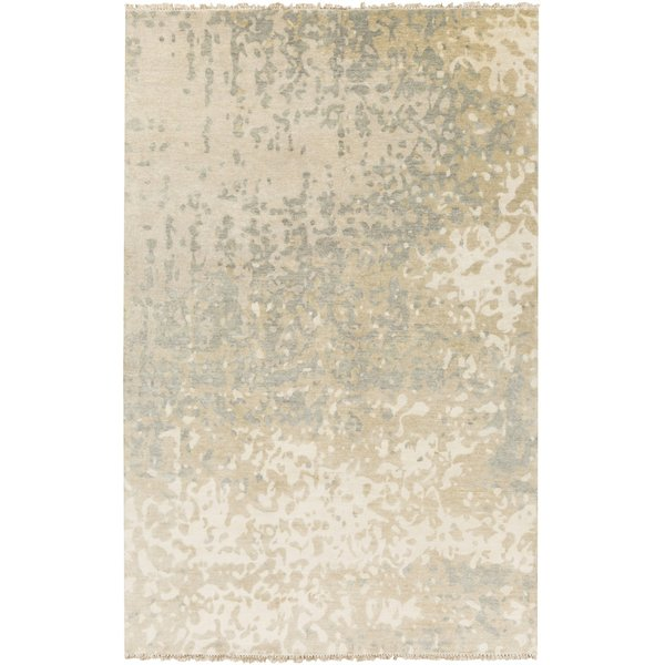 Ivory, Light Gray, Khaki Contemporary / Modern Area Rug