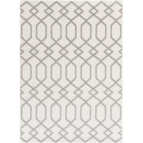 Ivory, Gray Contemporary / Modern Area-Rugs