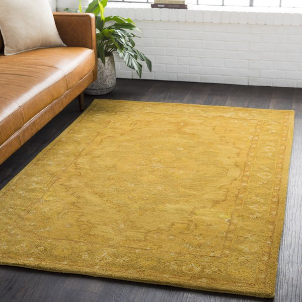 Mustard, Tan, Camel (AWHR-2059) Traditional / Oriental Area Rug