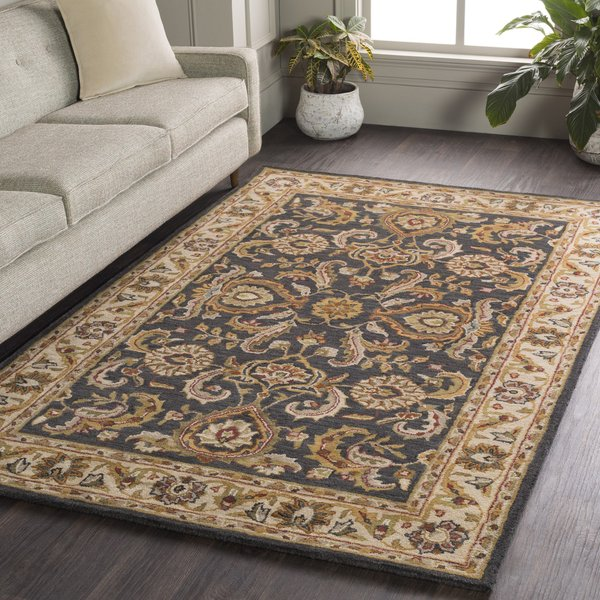 Charcoal, Ivory (AWHY-2063) Traditional / Oriental Area Rug