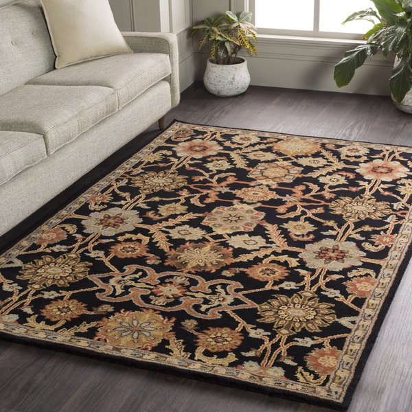 Black, Terracotta, Tan (AWMD-2073) Traditional / Oriental Area Rug