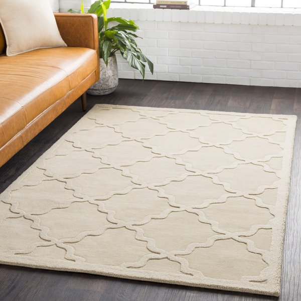Beige (AWHP-4021) Solid Area Rug