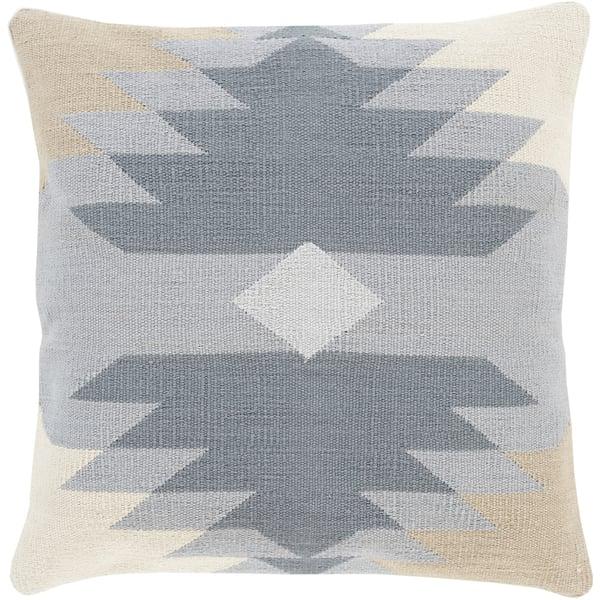 Charcoal, Light Gray, Olive, Beige (CK-005) Southwestern pillow
