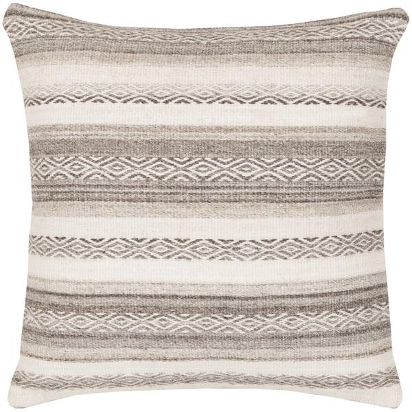 Gray, Ivory, Charcoal (IB-002) Southwestern Pillow