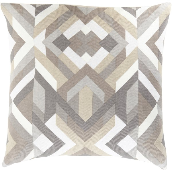Charcoal, Light Gray, Olive, Ivory (TO-016) Contemporary / Modern pillow