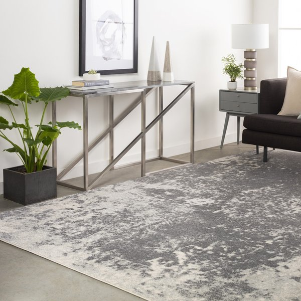 Charcoal, Light Gray Contemporary / Modern Area Rug