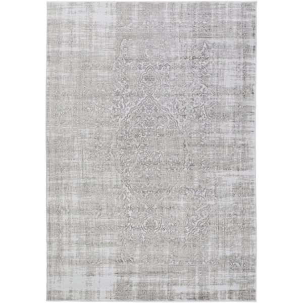 Medium Gray, Ivory, Gray Vintage / Overdyed Area-Rugs