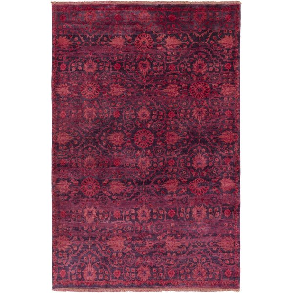 Burgundy, Bright Red, Rose, Dark Purple Traditional / Oriental Area Rug