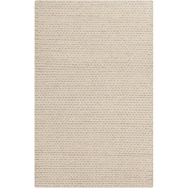 Off White, Beige (2000) Solid Area Rug