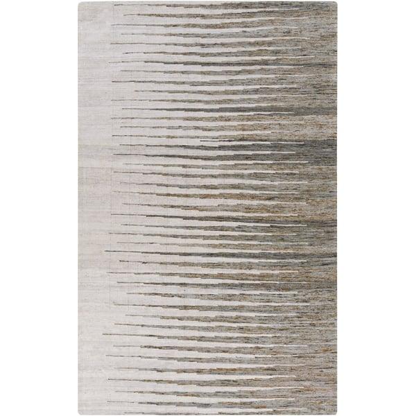 Light Grey, Dark Brown, Ivory (1002) Contemporary / Modern Area Rug