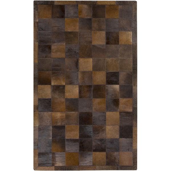 Brown, Chocolate (3001) Geometric Area Rug
