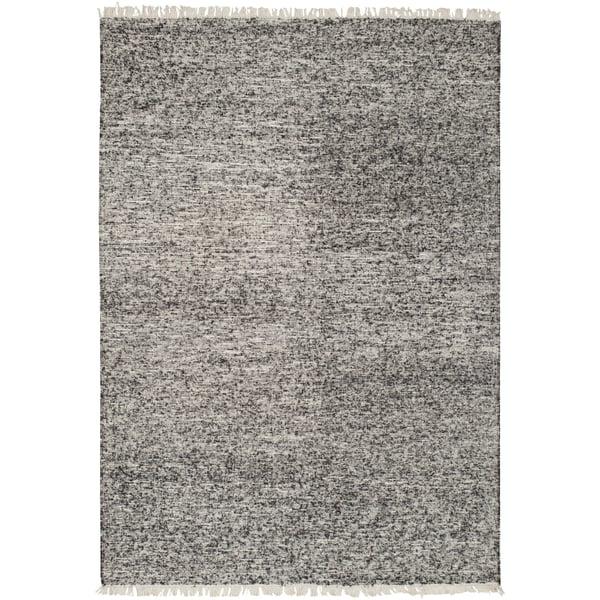 Black, Ivory (REX-4000) Contemporary / Modern Area Rug