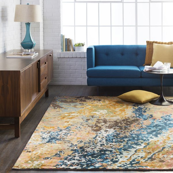 Navy, Camel, Olive (CHM-2002) Contemporary / Modern Area Rug