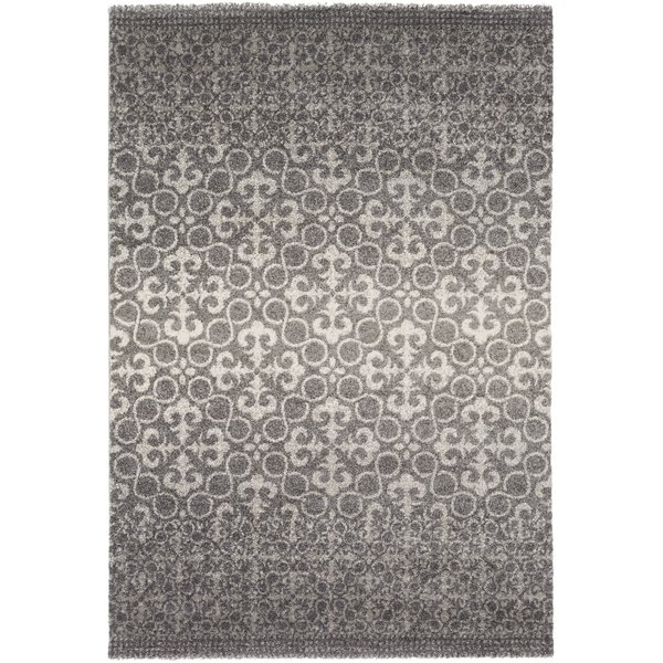 Charcoal, Light Grey Contemporary / Modern Area Rug