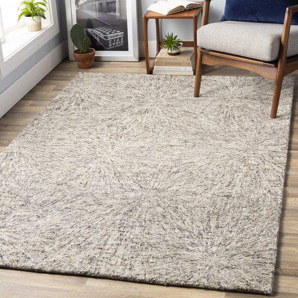 Dark Brown, Camel, Cream (FLC-8009) Contemporary / Modern Area Rug