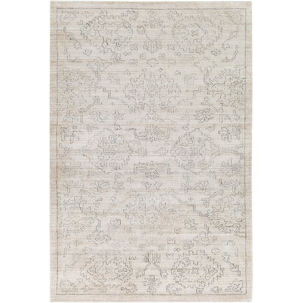Beige, Charcoal (HTW-3004) Traditional / Oriental Area Rug