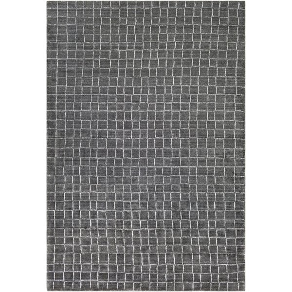 Charcoal, White (HTW-3006) Contemporary / Modern Area Rug