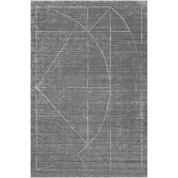 Medium Grey, Charcoal, White (HTW-3009) Contemporary / Modern Area Rug
