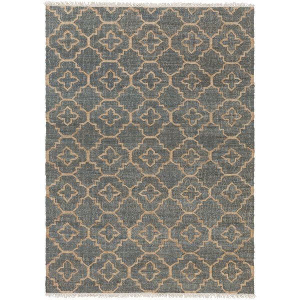 Cream, Khaki, Medium Gray Contemporary / Modern Area Rug