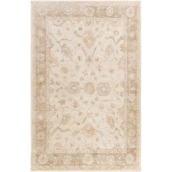 Ivory, Blush, Butter, Taupe, Light Gray Traditional / Oriental Area Rug