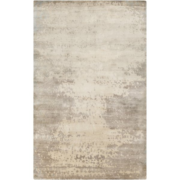 Light Gray, Gray, Beige Contemporary / Modern Area Rug