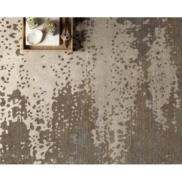 Olive, Light Gray, Black Contemporary / Modern Area Rug