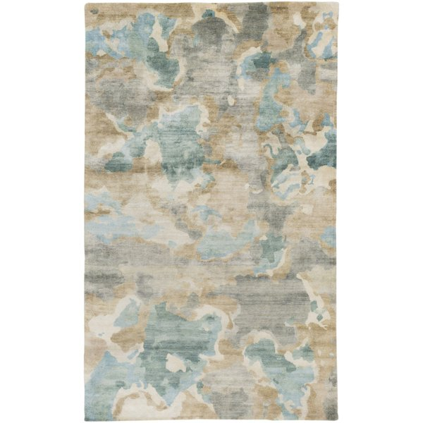 Slate, Forest, Butter, Ivory, Olive Contemporary / Modern Area Rug