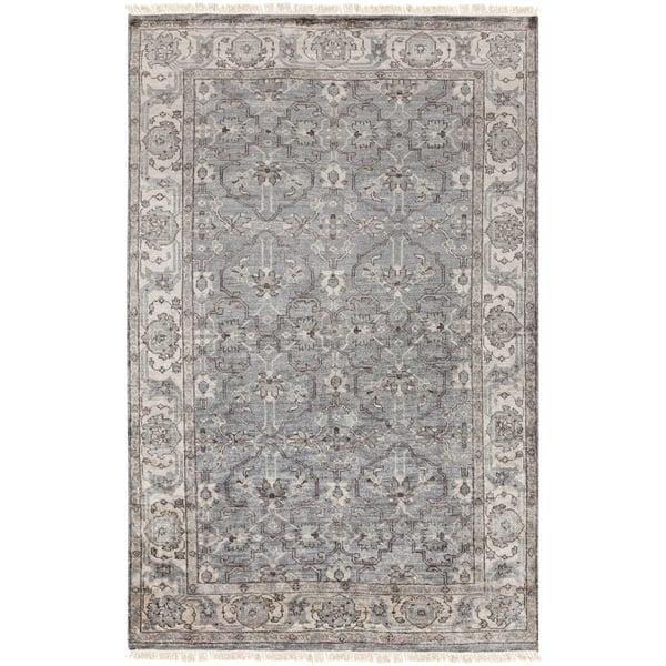 Medium Grey, Light Grey, Camel Traditional / Oriental Area Rug