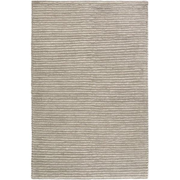 Medium Gray, White (FIX-4000) Striped Area Rug