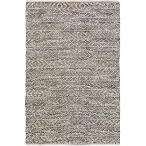 Dark Blue, Ivory, Taupe (ING-2003) Moroccan Area Rug
