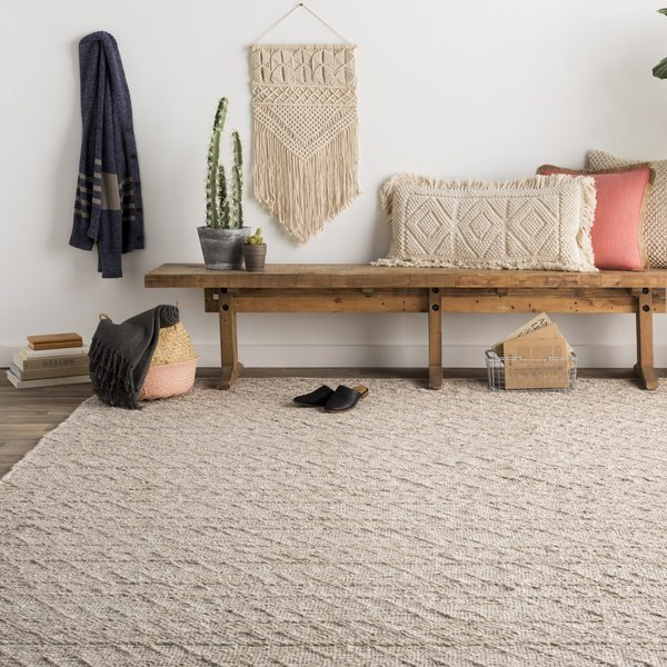 White, Ivory, Taupe (ING-2004) Moroccan Area Rug