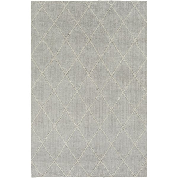 Light Gray, Ivory (JAQ-4000) Contemporary / Modern Area Rug