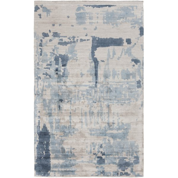 Light Gray, Charcoal, Sage Contemporary / Modern Area Rug