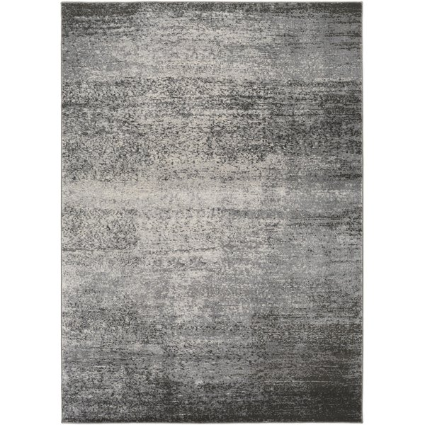 Light Grey, Medium Grey, Dark Brown, White Abstract Area-Rugs