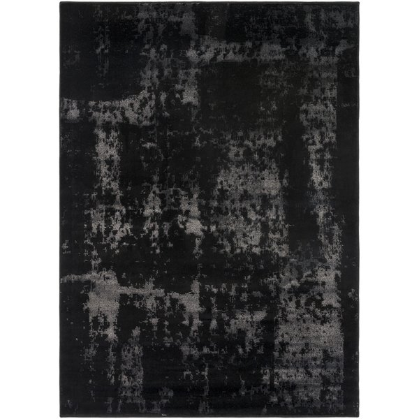 Black, Khaki Vintage / Overdyed Area Rug