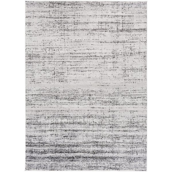 Light Gray, Charcoal, Black Contemporary / Modern Area Rug
