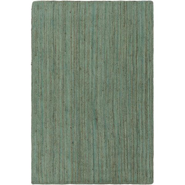 Mint, Dark Brown, White (BIC-7000) Natural Fiber Area Rug
