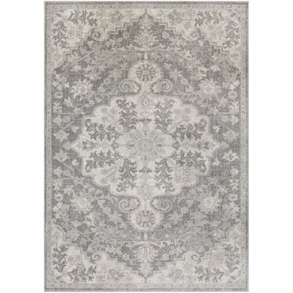 Light Gray, Charcoal, Beige Traditional / Oriental Area-Rugs