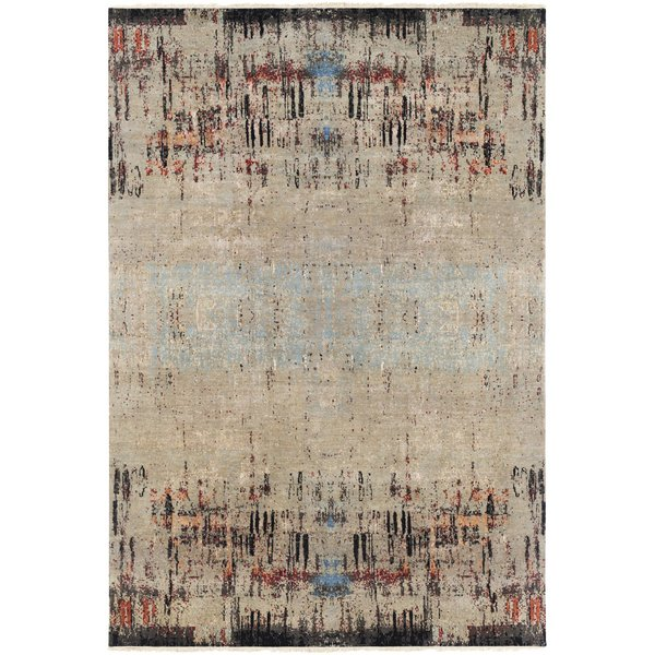 Camel, Aqua, Rust, Butter, Coral Abstract Area Rug