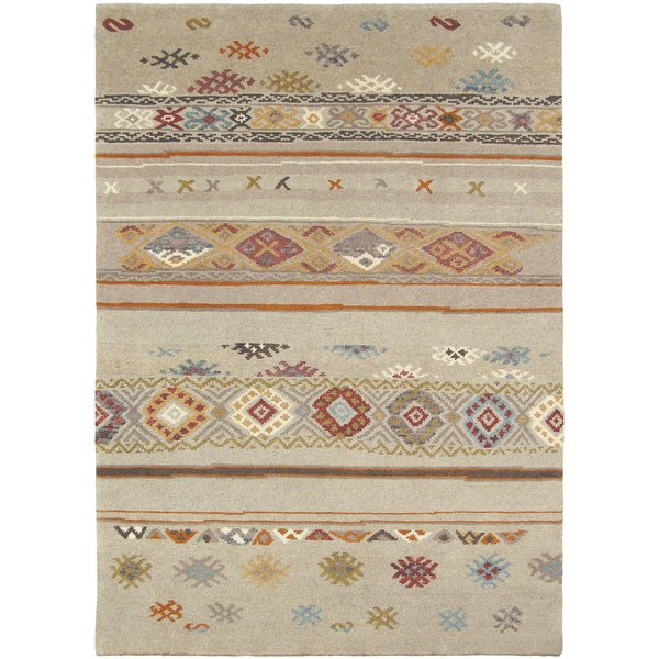 Khaki, Camel, Teal, Bright Orange, Tan (ESW-6000) Southwestern Area Rug