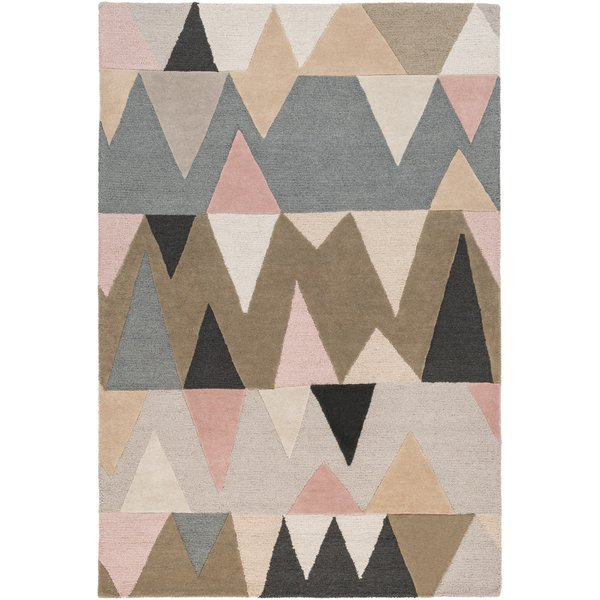 Denim, Camel, Ivory, Charcoal, Taupe (KDY-3015) Contemporary / Modern Area Rug