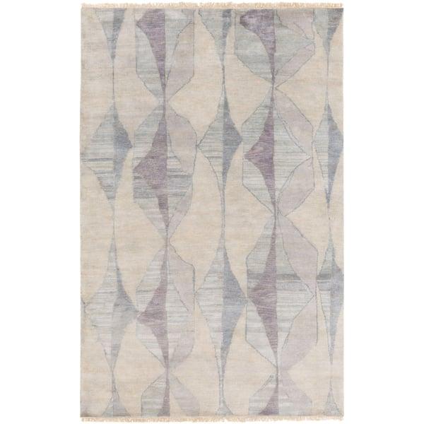 Cream, Medium Gray, Teal, Moss, Light Gray, Aqua Contemporary / Modern Area Rug