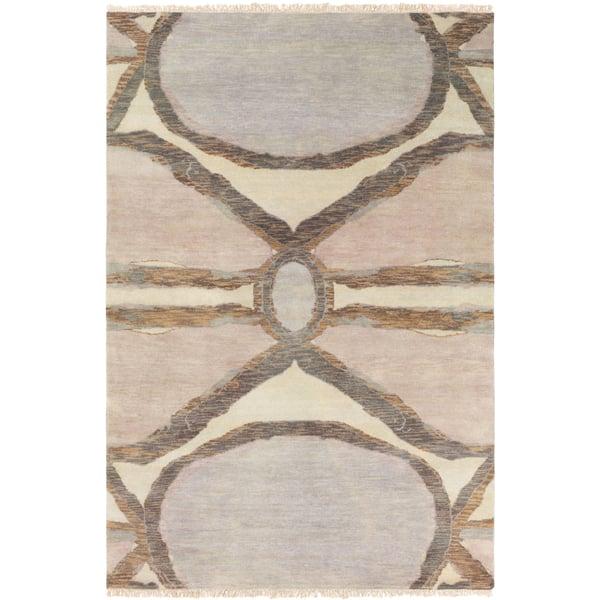 Khaki, Blush, Camel, Lilac, Light Gray Contemporary / Modern Area Rug