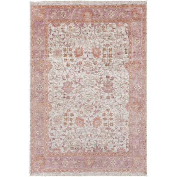 Cream, Peach, Pink, Ivory Traditional / Oriental Area Rug